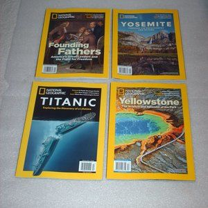 Bundle of 4 National Geographic magazines